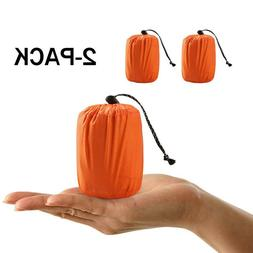 2pcs thermal emergency sleeping bag outdoor camping
