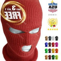 3 Hole Full Face Mask Ski Mask Winter Cap Balaclava Outdoor