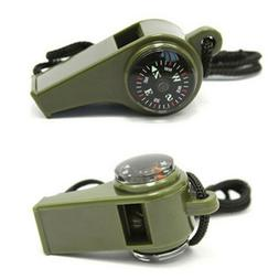 3 in1 Thermometer Compass Whistle Outdoor Camping Hiking Eme