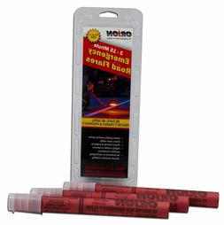 3 PACK Orion Emergency Road Flares Automotive Roadside 15 Mi