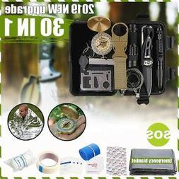 30 in 1 SOS Emergency Camping Survival Equipment Outdoor Gea
