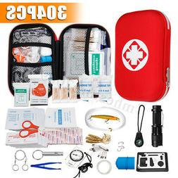304Pcs Outdoor SOS Emergency Survival Kit Travel Camping Hik