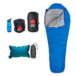 32°F Lightweight Down Sleeping Bag - Mummy Sleeping Bag, Co