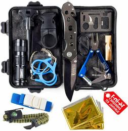 Emergency Survival Kit Tactical Camping Gear 14 in 1 EDC SOS