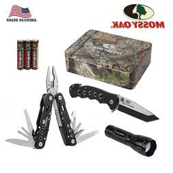 Mossy Oak 3PC Multi Tool Plier Folding Pocket Knife Focus LE