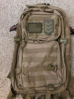 3V Gear Military Molle Tactical Assault Backpack Camping Hun