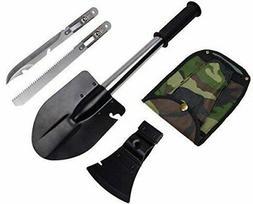 4 in 1 Emergency Camping Hiking Knife Shovel Axe Saw Gear Ki