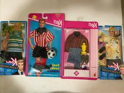 4 Barbie Ken Fashionistas/Camping Gear/Cool Looks Soccer Fas