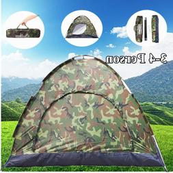 4 Person Family Dome Sleeping Tent Camping Equipment Gear Hi