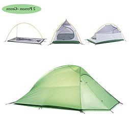 Weanas 1-2 Person 4 Seasons Double Layer Backpacking Tent, U