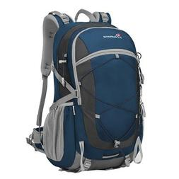 Mountaintop 40 Liter Unisex Hiking/Camping Backpack Sapphire