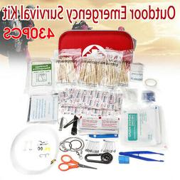 430Pcs First Aid Outdoor Emergency SOS Survival Gear Kit Car