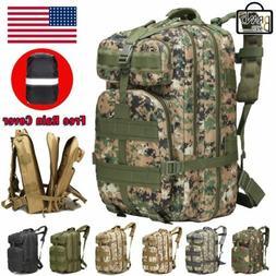 45L Tactical Outdoor Backpack Survival Gear Rucksack Travel