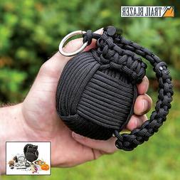 48pc paracord grenade survival kit camping military