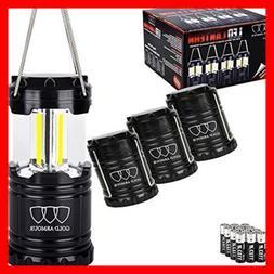 4pack portable led camping lantern emits 350