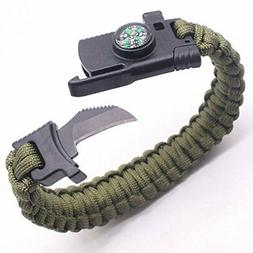 5 in 1 camping survival paracord bracelet
