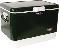 Coleman Steel-Belted Portable Cooler, 54 Quart, Olive Green