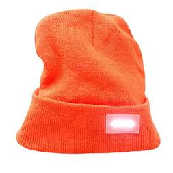 Dreamyth 5LED Light Cap Knit Beanie Hat with Batteries Outdo