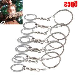 5pcs hiking camping stainless steel wire saw