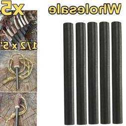 "Huge 1/2x5"" Ferrocerium Rod Flint Fire Starter Magnesium Cam"