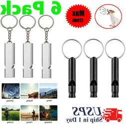 6 Pack Survival Whistle Aluminum Camping Emergency Gear SOS