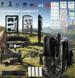 65 in 1 camping survival gear kit