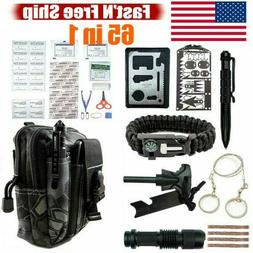 65 in 1 Emergency Survival Backpack Kit Outdoor Tactical Cam
