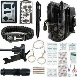 Survival Kits 65 in 1 Outdoor Camping Emergency Tactical Bac