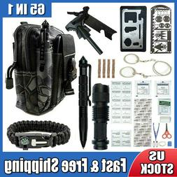 65 in 1 Survival Outdoor Kits Military Tactical EDC Emergenc