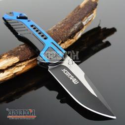 "8.25"" BLUE CAMPING GEAR SURVIVAL HUNTSMEN Blade Assist Open"