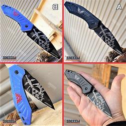 """8"""" Zelda Pocket Knife Hunting Camping Survival Folding Knife"""