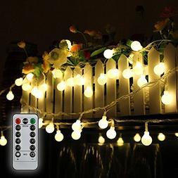 Tomshine 32.8ft 80 LED Battery Operated Globe String Lights