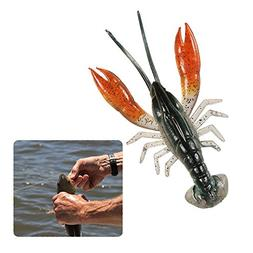 8cm / 14g Fishing Lure Soft Crawfish Lifelike Shrimp Crankba