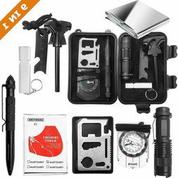 9 in 1 Emergency Survival Gear Kit Tactical EDC Tool for Out