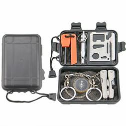 9 in 1 Survival Kit Military Tactical Emergency Gear Outdoor