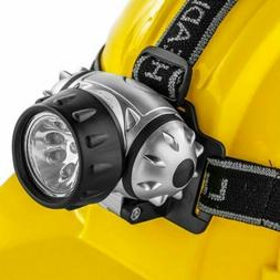 9 LED Headlamp Mining Hiking Camping Head Gear Safety Tools