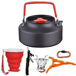 9cs Camping Tea Kettle Stove Canister Stand Tripod Collapsib
