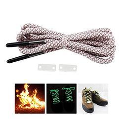 AOLVO Neon Shoelaces 51 Inch Shoelaces Flint Laces 550 Parac