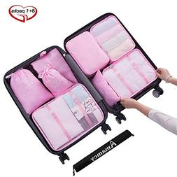Amamcy 9 Sets Travel Storage Bags Clothing Toiletries Packin