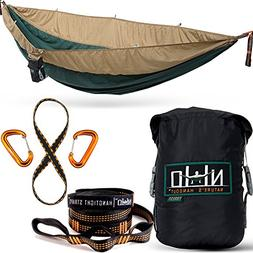 Double Camping Hammock - Portable Two Person Parachute Hammo