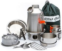Kelly Kettle Camp Stove Ultimate Stainless Steel Scout Kit -