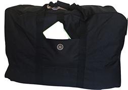 "New 28"" 55lb Cap. Square Jumbo Black Duffle/ Cargo Bag/ Lugg"