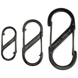 Nite Ize S-Biner Dual Spring Gate Carabiners, Black, 3-Pack,