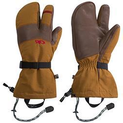 Outdoor Research Men's Highcamp 3-Finger Gloves, Ochre/Carob