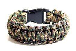 Paracord Survival Bracelet Recon Camo 5/8 Plastic Buckle 9 i