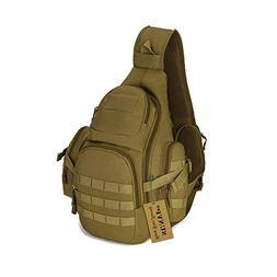 fa5f2eebc88c Protector Plus Tactical Military Sling Chest Pack Bag Molle