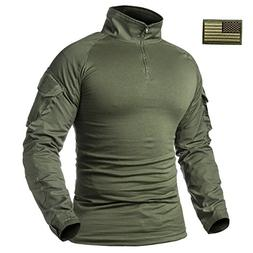 ReFire Gear Men's Military Tactical Army Combat Long Sleeve