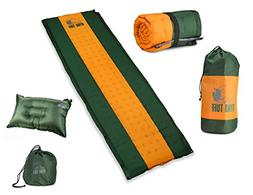 Ryno Tuff Sleeping Pad Set, Self-Inflating Camping Mattress