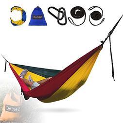 Serac  Classic Portable Single Camping Hammock with Suspensi