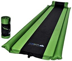 Sleeping Pad with Armrest & Pillow - Self inflating Sleeping